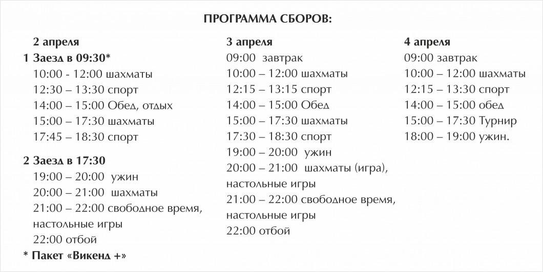 Весенние шахматные сборы в Петрово-Дальнее